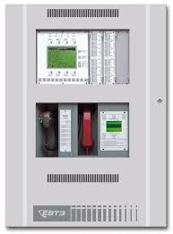 est3 fire alarm panel with lcd display microphone and handset available from fire alarm