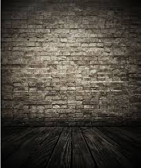 8x15FT Indoor Silver Bricks Wall Dark Wooden Floor Custom