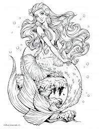 Adult Mermaid Coloring Page Coloring Pages