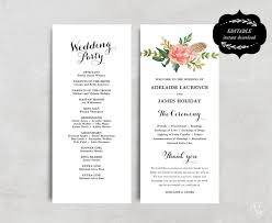 pinterest wedding programs. Wedding Program Inclusions Resume Template Ideas