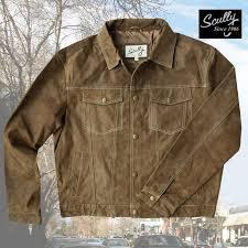 画像1 スカリー レザー ジージャンスタイル ジャケット ブラウン scully leather jean jacket