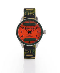 mens s camo watch in camo green superdry superdry s camo watch green