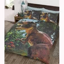 jurassic t rex dinosaur duvet cover sets in