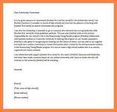 College Recommendation Letter For Scholarship Letter Of