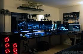 stylish office desk setup. stylish coolest and inspiring multi monitor gaming setups regarding ultimate desk setup office o