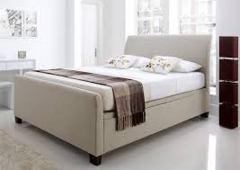 Ottomans For Bedroom New Kaydian Allendale Upholstered Ottoman Storage Bed Oatmeal