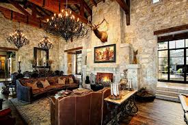 rustic elegance decor family room mediterranean with italy crystal shade