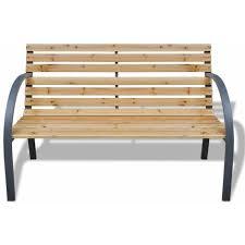 vidaxl garden bench 120 cm wood and