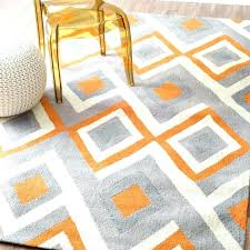 gray and orange area rug burnt grey rugs comfortable regarding 19