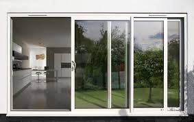 best 3 panels sliding glass patio doors with aluminum frame for modern home
