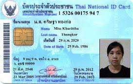 National Id For Thai Photo Authentication Image In Card Watermarking Digital