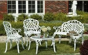 white iron garden furniture. 2007 Garden Furniture - White Cast Iron Bistro Table And Chairs. O