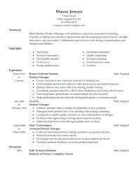 product management resume 9572