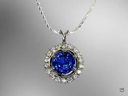 custom sapphire diamond necklace