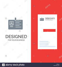 Company Id Card Template Card Business Corporate Id Id Card Identity Pass Grey