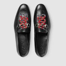 gucci shoes black snake. gucci leather loafer with kingsnake detail 3 shoes black snake