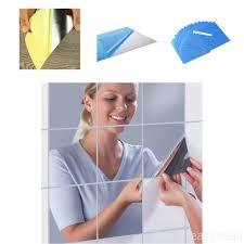 Lifetop <b>16pcs</b> Decorative <b>Mirrors</b> Self-adhesive <b>Tiles Mirror</b> Wall ...