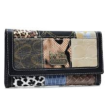 ... Coach Holiday Logo Medium Black Wallets AHM ...