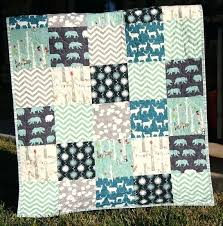 Quilt Shops Nz Baby Quilts Sewing Quilts For Beginners Quilts And ... & Organic Baby Boy Quilt Dark Blue Teal Grey Gray Birch Fabrics Elk Deer  Quilts Patterns For Adamdwight.com