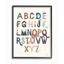 wood letters alphabet posters