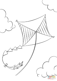 Small Picture Kite Flying coloring page Free Printable Coloring Pages