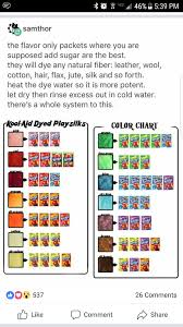 tips trickskool aid can appaly be used as a leather dye