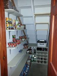 Furniture, Small And Simple Wine And Pantry Storage Design Under Wooden Staircase  Ideas: 50
