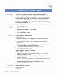 Flight Attendant Resume Example Flight Attendant Resume Sample With No Experience Unique Collection 14