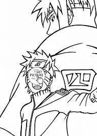 Naruto Uzumaki Attack Coloring Page For Kids Manga Anime Coloring