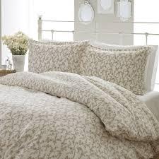 laura ashley victoria 3 piece flannel duvet cover set