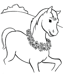 Horse Coloring Pages For Lts Printable Race Kids Colouring Page Pdf