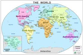 maps of the world for kids