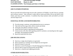Server Job Description For Resume Impressive Bartender Duties And Responsibilities Resume Wwwnyustrausorg