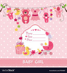 baby girl invite new born baby girl card shower invitation template