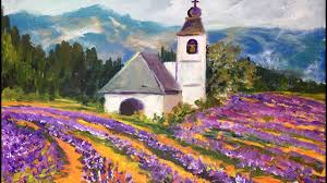 how to paint lavender fields in provence france with ginger cook beginner acrylic painting tutorial