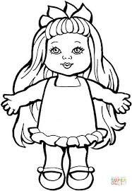 Small Picture Doll coloring page Free Printable Coloring Pages