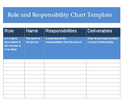 Role And Responsibility Chart Templates 2 Free Word