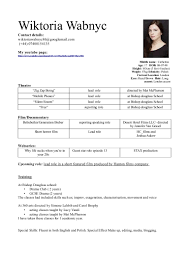 Resume With Accent Vicky acting resume 77