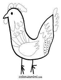Lovely Hen And Chick Coloring Pages Exadme