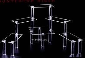 Lucite Stands For Display Multilevel Display Rectangle 100100x100 Shelves ClearChina 35