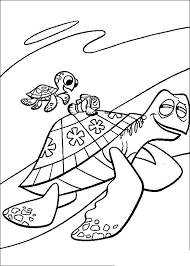 Finding Nemo Crush And Squirt Finding Nemo Coloring Pages