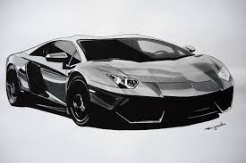 lamborghini black and white drawing. 3d art how to draw a lamborghini aventador by rui gouveia speed drawing black and white