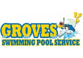pool service logo. Groves Swimming Pool Service, Inc. Service Logo