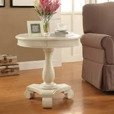 bassett avalon round end table pedestal side tables traditional