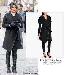 priyanka chopra in dkny wrap coat under 200