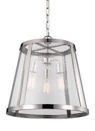 3 light pendant polished nickel