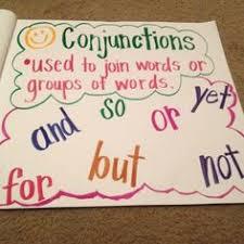 Conjunction Chart Conjunctions Lessons Tes Teach