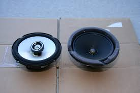 bose car speakers. an infinity 60021 reference speaker on the left, stock bose right. build quality isn\u0027t bad for stock, but can\u0027t hold a candle car speakers e
