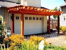 garage door arbor11 Garage Pergola Over Carriage Doorsgarage Door Arbor Plans Diy