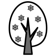 モノクロでかわいい冬の木の無料イラスト商用フリー オイデ43